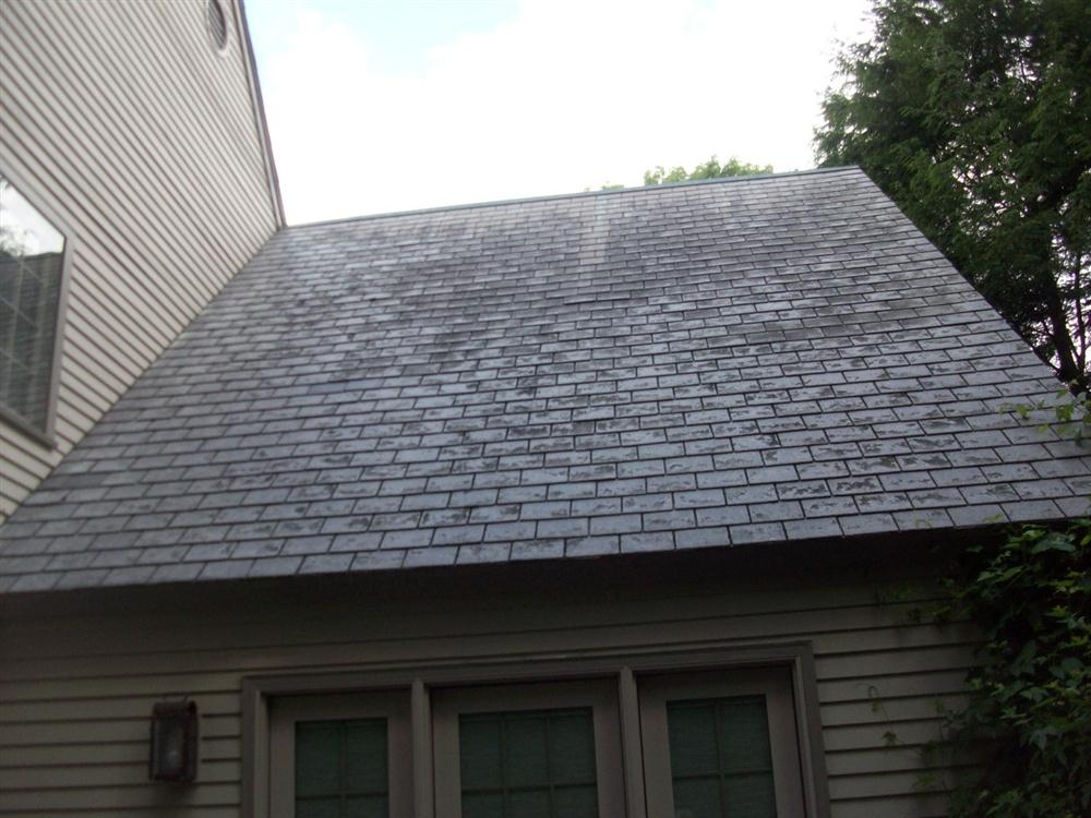 Synthetic slate roofing in natick ma neponset valley for Fiber cement composite roofing slate style