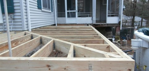 Pressure Treated Wood Deck in Canton, MA